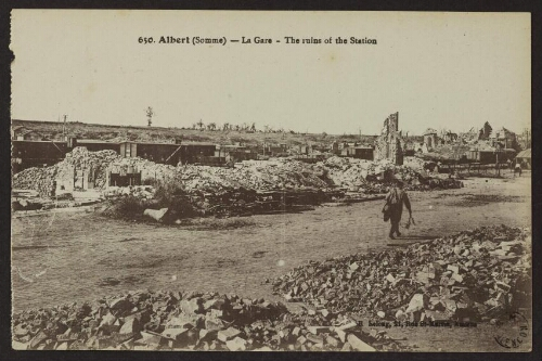 Albert (Somme) - La gare - The ruins of the station